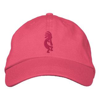 Fuchsia Kokopelli Pink Embroidered Hat