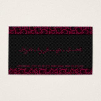 Fuchsia Lace Business Card