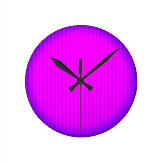 Fuchsia LED lamp Round Clock