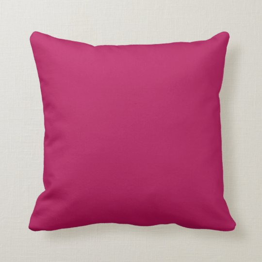 Fuchsia Magenta Pink Solid Trend Colour Background Throw Pillow