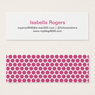 Fuchsia modern generic simple elegant personal mini business card