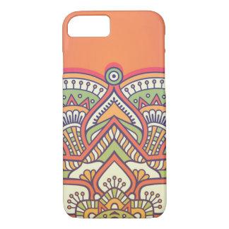 Fuchsia orange colored mandala Case-Mate iPhone case