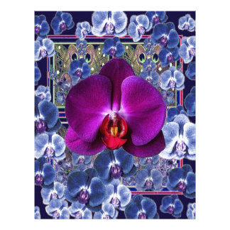 Fuchsia Orchid Bler-Grey Celestial Orchids Letterhead