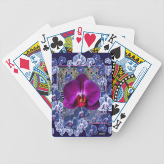 Fuchsia Orchid Bler-Grey Celestial Orchids Poker Deck