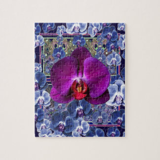 Fuchsia Orchid Bler-Grey Celestial Orchids Puzzle