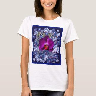 Fuchsia Orchid Bler-Grey Celestial Orchids T-Shirt