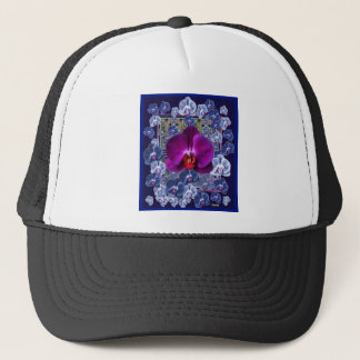 Fuchsia Orchid Bler-Grey Celestial Orchids Trucker Hat