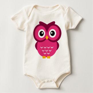 Fuchsia Owl Baby Bodysuit