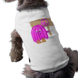 Fuchsia Peace Doggie T Shirt