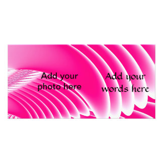 Fuchsia Pink Angel's Wings Fractal Customized Photo Card