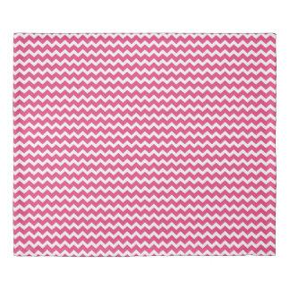 Fuchsia Pink Chevron Stripes Duvet Cover