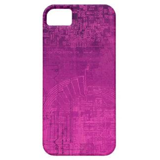 Fuchsia Pink Circuit Board computer geek nerd iPhone 5 Cover