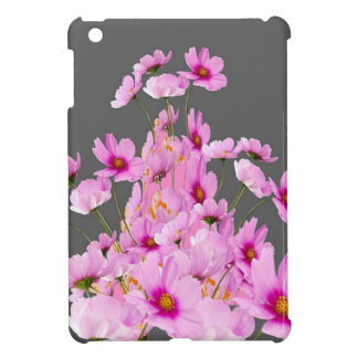 FUCHSIA PINK COSMOS GREY FLORAL DESIGN CASE FOR THE iPad MINI