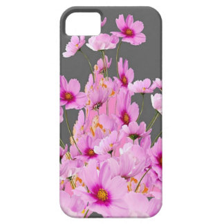 FUCHSIA PINK COSMOS GREY FLORAL DESIGN CASE FOR THE iPhone 5