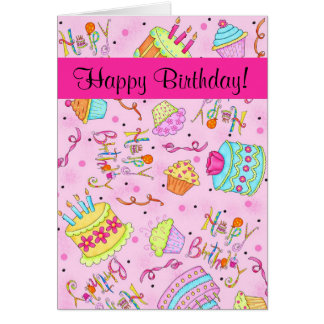 happy birthday green cupcake cards, happy birthday green cupcake, Birthday card