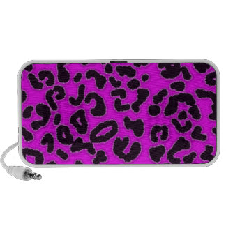 Fuchsia, Pink Leopard Animal Print Mp3 Speaker