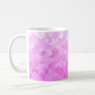 Fuchsia Pink Modern Girly Cube Gradient Coffee Mug