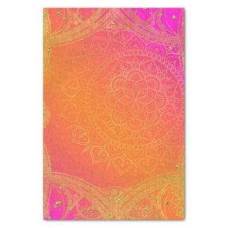 Fuchsia Pink Orange & Gold Indian Mandala Glam Tissue Paper