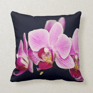 Fuchsia Pink Orchid Throw Pillow