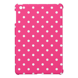 Fuchsia Pink White Polka Dots, iPad Mini Hard Case Case For The iPad Mini