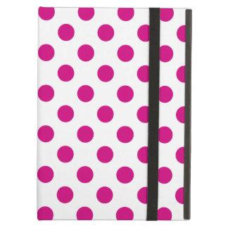 Fuchsia polka dots case for iPad air
