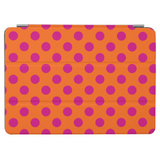 Fuchsia polka dots on orange iPad air cover