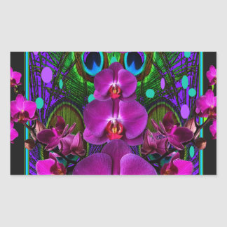 Fuchsia Purple Orchids Green-black Design gifts