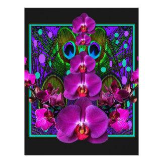 Fuchsia Purple Orchids Green-black Design gifts Letterhead
