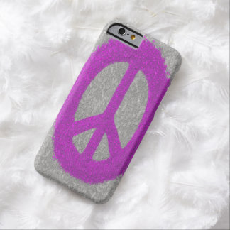 Fuchsia Splat Painted Peace Sign iPhone 6 Case