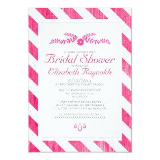 Fuchsia Stripes Bridal Shower Invitations