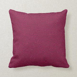 Fuchsia Triangles on Black Pillow