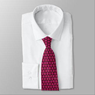 Fuchsia Triangles on Black Tie