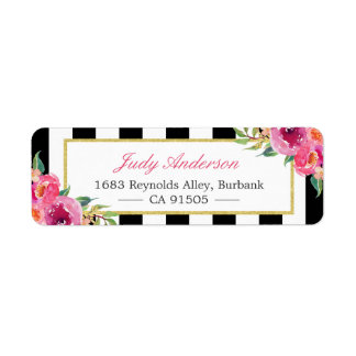 Fuchsia Watercolor Floral | Modern Purple Red Pink