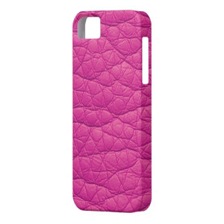 Fuchsia Wrinkled Faux Soft Leather iPhone 5s Case