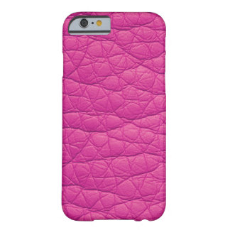 Fuchsia Wrinkled Faux Soft Leather iPhone 6 case