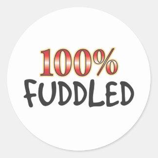 Fuddled 100 Percent Stickers