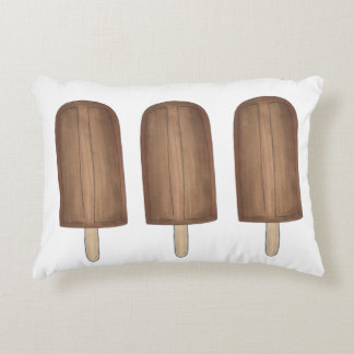 Fudge Brown Ice Cream Pop Fudgesicles Popsicles Decorative Pillow