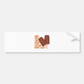 Fudge Pop Bumper Sticker