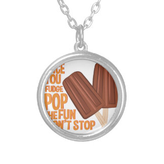 Fudge Pop Silver Plated Necklace