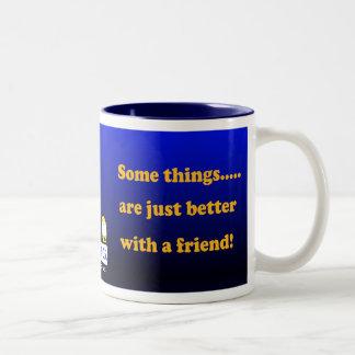 """""""Fudsy Faces""""-Two-Tone Mug-Quantum Computing Two-Tone Coffee Mug"""