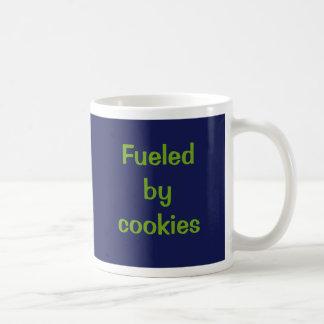 Fueled by cookies. basic white mug