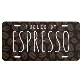 Fueled by ESPRESSO - Custom Text License Plate