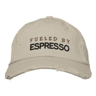 FUELED BY ESPRESSO EMBROIDERED HAT