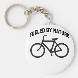 Fueled by Nature . Basic Round Button Keychain