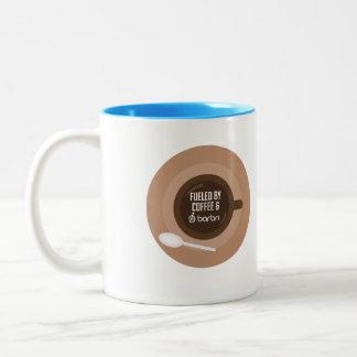 Fuelled by Coffee and BARBRI Two-Tone Coffee Mug