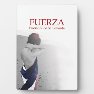 Fuerza - image with text plaque