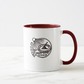 """FUGIO: MIND YOUR BUSINESS"" Benjamin Franklin Mug"