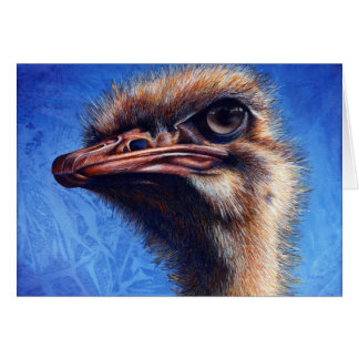 Fugley Ostrich Greeting Card