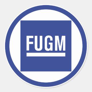 FUGM by SAB Round Stickers (No Copyline)