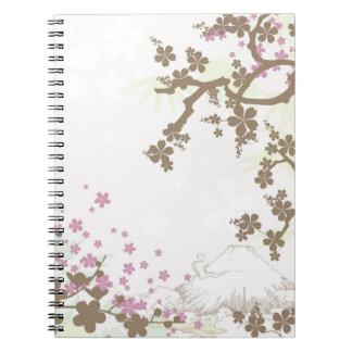 Fuji and Sakura - brown Notebooks